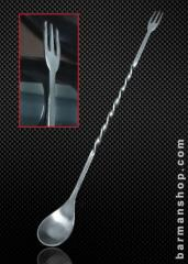 Half Twisted Bar Spoon with Fork