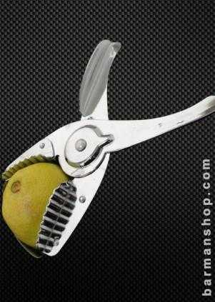 Lime squeezer with strainer